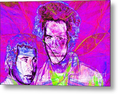 A Poet And A One Man Band Simon And Garfunkel 20140908 Metal Print by Wingsdomain Art and Photography