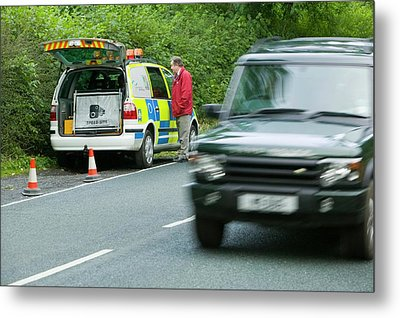 A Police Speed Camera Metal Print by Ashley Cooper