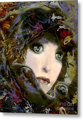 A Portrait Of A Friend Metal Print by Doris Wood