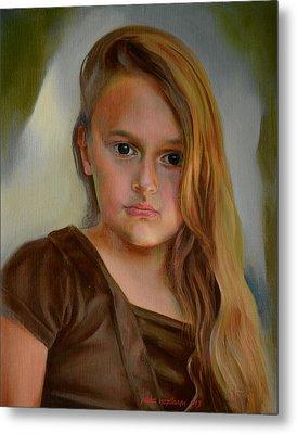 A Portrait Of A Girl Metal Print