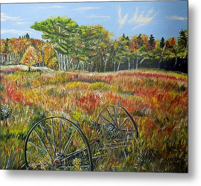 Metal Print featuring the painting A Prairie Treasure by Marilyn  McNish