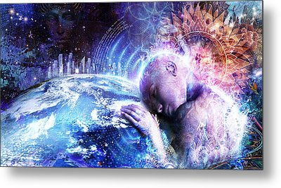 A Prayer For The Earth Metal Print by Cameron Gray