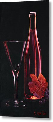 Metal Print featuring the painting A Prelude To Romance by Sandi Whetzel