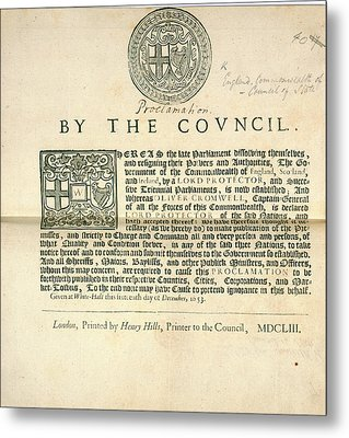 A Proclamation Metal Print by British Library