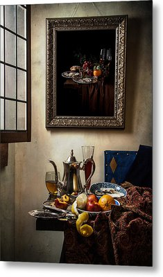 A Pronkstilleven From Vermeer To Kalf Metal Print by Levin Rodriguez