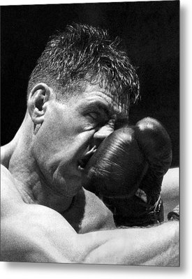 A Punch In The Nose Metal Print by Underwood Archives