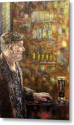 A Quiet Guinness Metal Print by John  Nolan