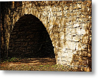 A Quiet Path Through Stone Metal Print by Lincoln Rogers