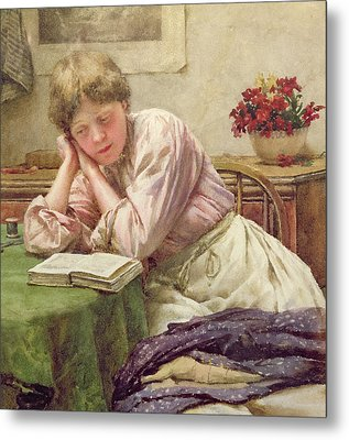 A Quiet Read Metal Print by Walter Langley