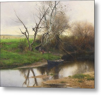 A Quiet Stretch Of River Metal Print by Celestial Images