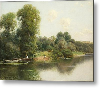 A Quiet Stretch Of The River Metal Print by Celestial Images