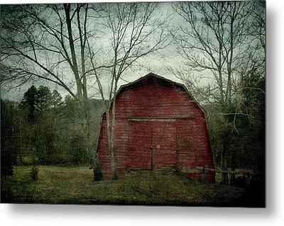 A Red Barn Metal Print