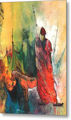 A Red Dog In Morocco Metal Print by Miki De Goodaboom