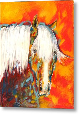 A Red Hot Head Metal Print