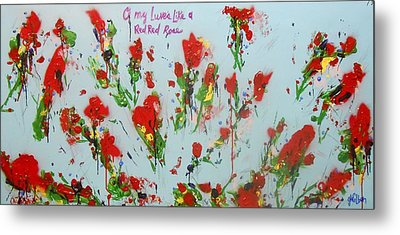 A Red Red Rose Metal Print