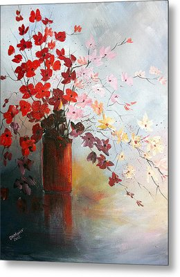 A Red Vase Metal Print by Dorothy Maier