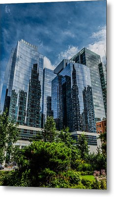 A Reflection Of Boston Metal Print