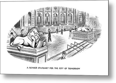 A Revised Statuary For The City Of Tomorrow Metal Print