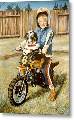 A Ride In The Backyard Metal Print by Donna Tucker