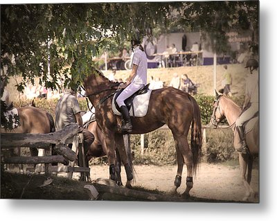 A Rider On A Horse Metal Print