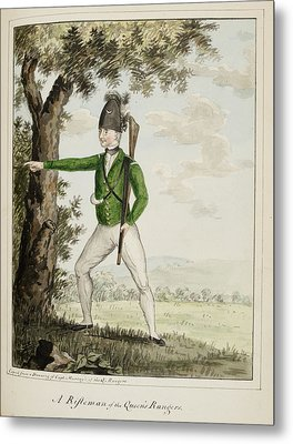 A Rifleman Of The Queen's Rangers Metal Print by British Library