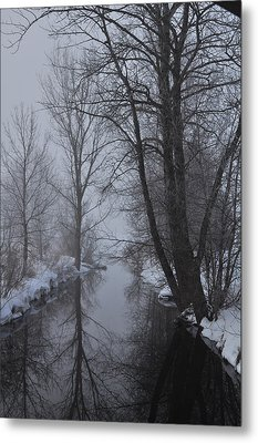 A River In March Metal Print by BandC  Photography
