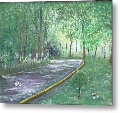 A Road Least Traveled Metal Print
