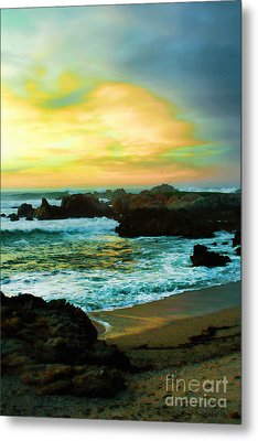 A Rocky Sunset Metal Print by Polly Peacock