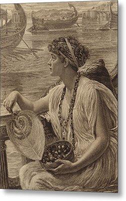 A Roman Boat Race Metal Print by English School