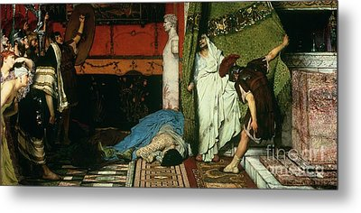 A Roman Emperor   Claudius Metal Print by Sir Lawrence Alma Tadema