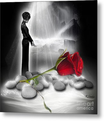 A Rose For Whitney - Fantasy Art By Giada Rossi Metal Print by Giada Rossi