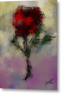 A Rose Is Metal Print by The Art Of JudiLynn