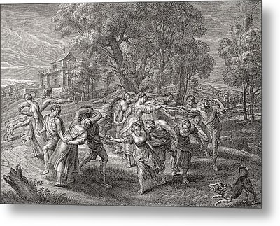 A Round Dance, After An Engraving From The Painting By Peter Paul Rubens.  From Illustrierte Metal Print by Bridgeman Images