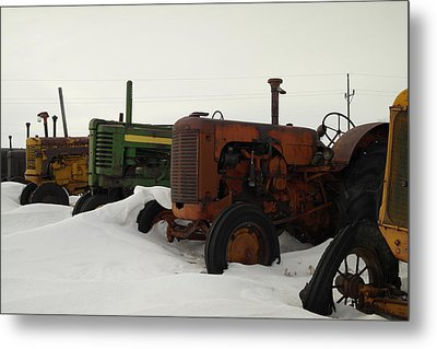 A Row Of Relics Metal Print by Jeff Swan