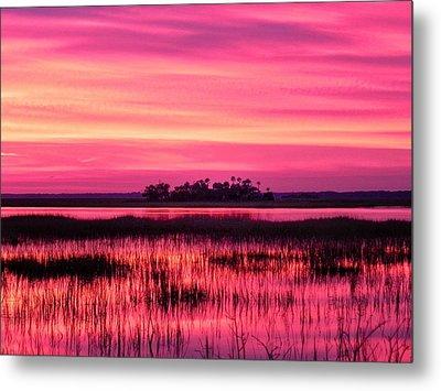 A Saint Helena Island Sunset Metal Print by Patricia Greer