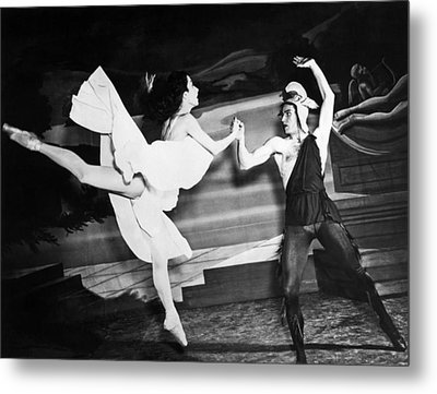 A Scene With The Russian Ballet Metal Print by Underwood Archives