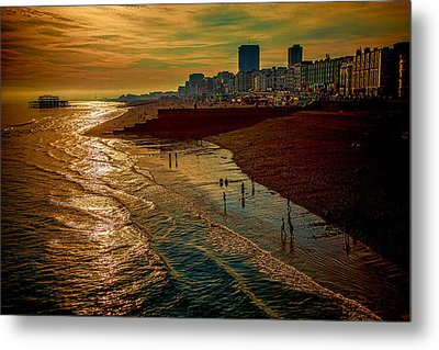 Metal Print featuring the photograph A September Evening In Brighton by Chris Lord