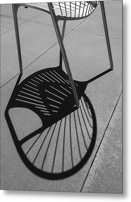 Metal Print featuring the photograph A Shadow Cast - Abstract by Steven Milner