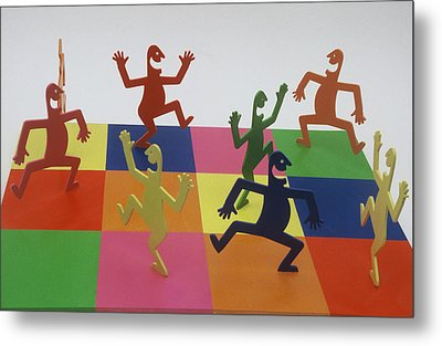 A Shortcut To Happiness - Dancing Metal Print by Peter Michel