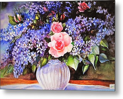 A Simple Flower Metal Print by Patricia Schneider Mitchell