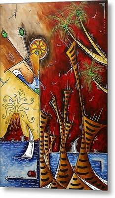 A Slice Of Paradise By Madart Metal Print by Megan Duncanson