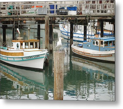 Metal Print featuring the photograph A Small Harbor by Hiroko Sakai