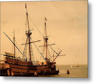 Metal Print featuring the photograph A Small Old Clipper Ship by Amazing Photographs AKA Christian Wilson