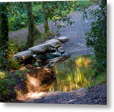 A Small River In Galicia Spain Metal Print by Dave Byrne