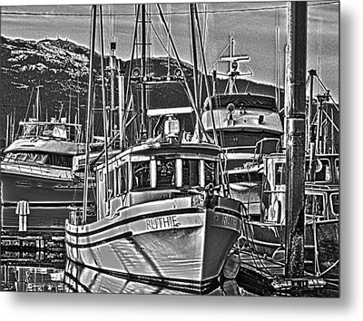 Metal Print featuring the photograph A Small Wooden Fishing Boat by Timothy Latta