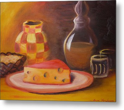 A Snack With Cheese Metal Print by Anna  Henderson