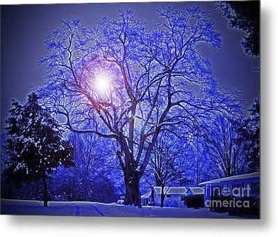 A Snow Glow Evening Metal Print