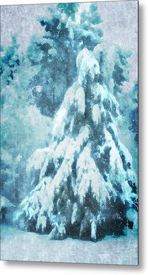 A Snow Tree Metal Print by ARTography by Pamela Smale Williams