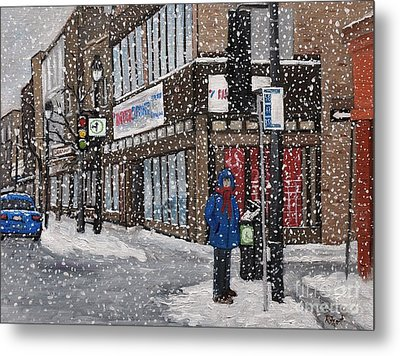 A Snowy Day On Wellington Metal Print