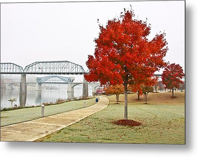 A Soft Autumn Day Metal Print by Tom and Pat Cory